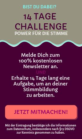 14-Tage-Challenge - Power für die Stimme